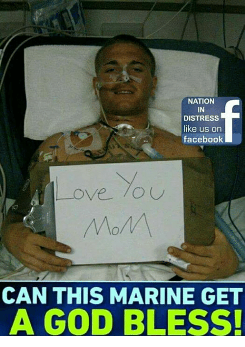 "distress: NATION  IN  DISTRESS  like us on  facebook  Love.""  CAN THIS MARINE GET  A GOD BLESS!"