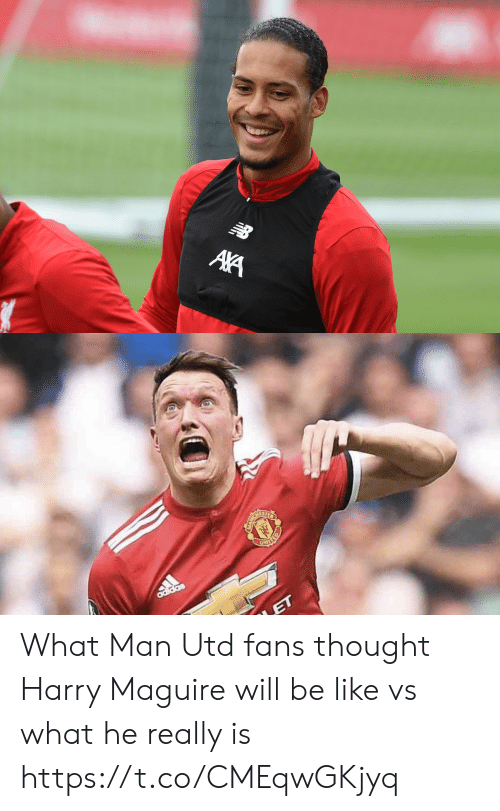 Adidas: NB  AA   adidas  ET What Man Utd fans thought Harry Maguire will be like vs what he really is https://t.co/CMEqwGKjyq