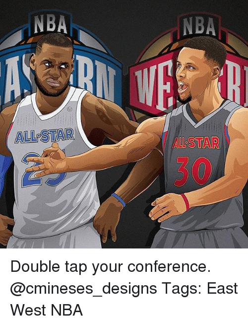 nba all stars: NBA  ALL STAR  NBA Double tap your conference. @cmineses_designs Tags: East West NBA