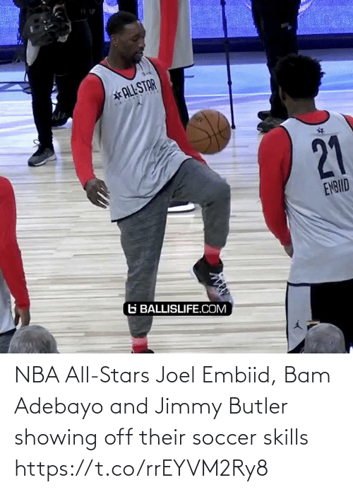 nba all stars: NBA All-Stars Joel Embiid, Bam Adebayo and Jimmy Butler showing off their soccer skills https://t.co/rrEYVM2Ry8