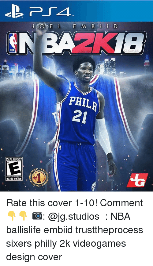 Phillied: NBA  STUDIOS  CONTENTRATEDBY  ESS RRB  PHIL  21 Rate this cover 1-10! Comment 👇👇 📷: @jg.studios ️⃣: NBA ballislife embiid trusttheprocess sixers philly 2k videogames design cover