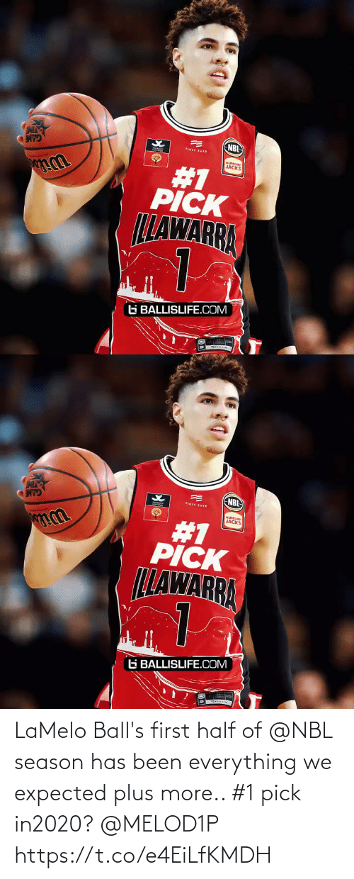 First Ever: NBI  FIRST EVER  HUNGRY  JACKS  #1  PICK  LLAWARRA  G BALLISLIFE.COM   NBL  FIRST EVER  HUNGRY  JACKS  #1  PICK  LLAWARRA  G BALLISLIFE.COM LaMelo Ball's first half of @NBL season has been everything we expected plus more.. #1 pick in2020? @MELOD1P https://t.co/e4EiLfKMDH
