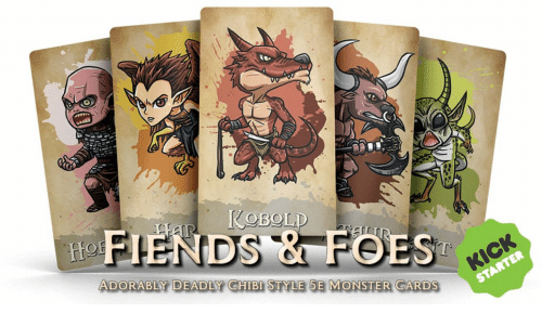foe: NDS & FOE  ADORABLY DEADLY CHIBI STYLE 5E MONSTER CARDS