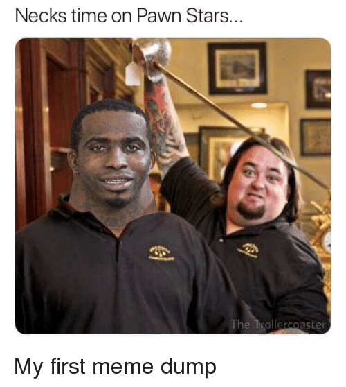 Meme, Stars, and Time: Necks time on Pawn Stars...  The Trollercoaster My first meme dump