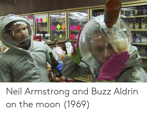 armstrong: Neil Armstrong and Buzz Aldrin on the moon (1969)