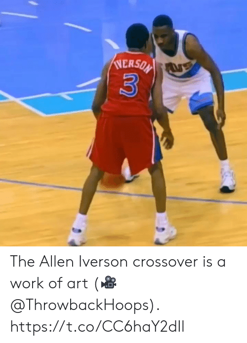 Iverson: NERSON  3 The Allen Iverson crossover is a work of art  (🎥 @ThrowbackHoops).  https://t.co/CC6haY2dIl