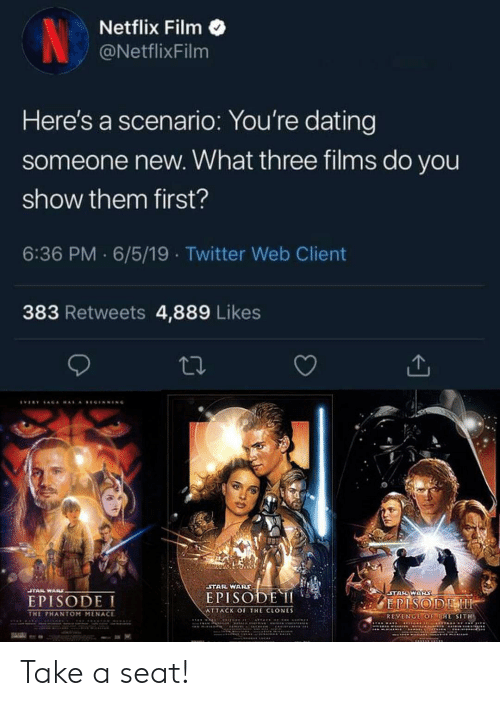 Netflix Film Here's a Scenario You're Dating Someone New What Three