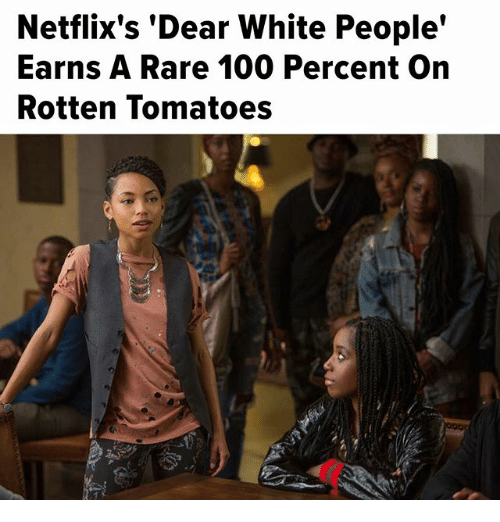 """Rotten Tomatoes: Netflix's """"Dear White People'  Earns A Rare 100 Percent on  Rotten Tomatoes"""