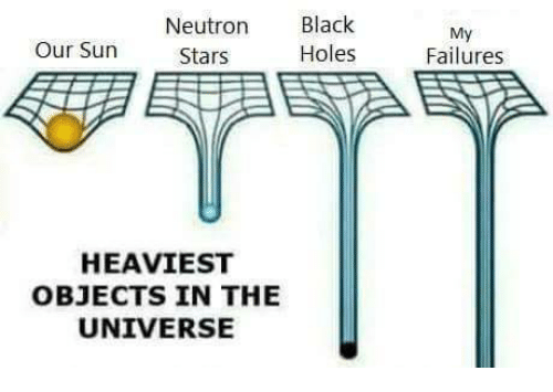 Heaviest Objects In The Universe: Neutron Black  Holes  My  Failures  Our Sun  Stars  HEAVIEST  OBJECTS IN THE  UNIVERSE