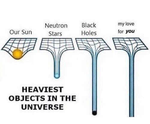 Heaviest Objects In The Universe: Neutron  Stars  Black  Holes  my love  for you  Our Sun  HEAVIEST  OBJECTS IN THE  UNIVERSE