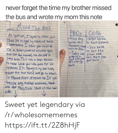 polio: never forget the time my brother missed  the bus and wrote my mom this note  Aissel The bus  PROS CONS  As  yours ony I regtette infern yok  That ive misses my Mlans of Publie  ertation. I  FICt dayMight becone  home this  quocter de-You have  ahabitCd d)  snok you nust be  Wihl le ne  On a foller coAserof enstione nght  hols but est udve decidesd to  Stoy hone. This wasa tolgh decision  To Make While you ta gone fof 20  Minutes. I'n foteyin ny bed not  about the foct thatI iot Do to School  So Pleose bontAtent me  fequire  see the Pros/Cons Chost onthe bocr  Side  to tall the  Today v school and  4et then Pve  got Polio.  Bad onescan  9e+ over My  heir  FUrther assistance Plse Sweet yet legendary via /r/wholesomememes https://ift.tt/2Z8hHjF