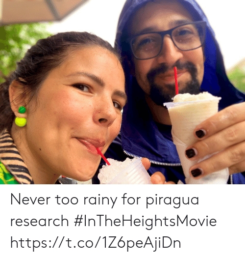 rainy: Never too rainy for piragua research #InTheHeightsMovie https://t.co/1Z6peAjiDn
