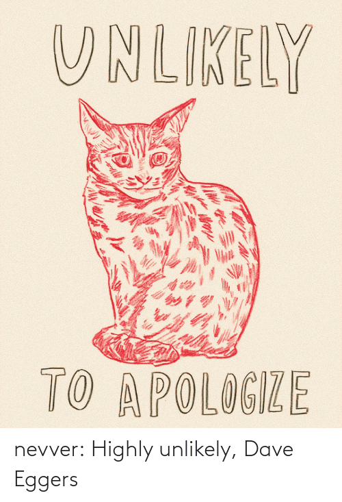 Love, Tumblr, and Blog: nevver:  Highly unlikely, Dave Eggers