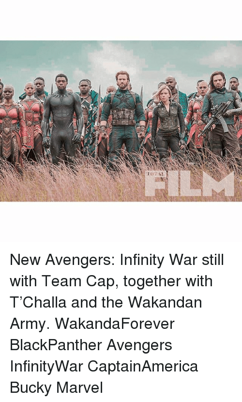 Team Cap: New Avengers: Infinity War still with Team Cap, together with T'Challa and the Wakandan Army. WakandaForever BlackPanther Avengers InfinityWar CaptainAmerica Bucky Marvel