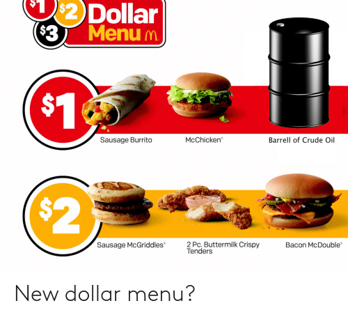 menu: New dollar menu?