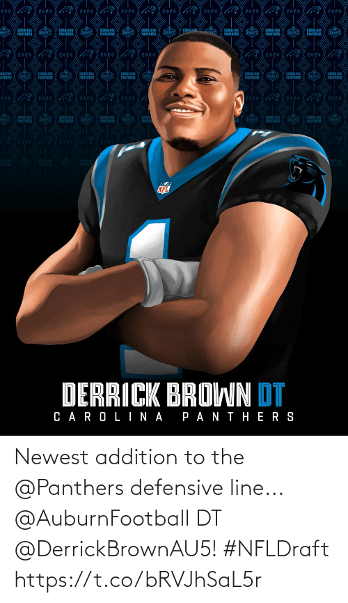 Panthers: Newest addition to the @Panthers defensive line...   @AuburnFootball DT @DerrickBrownAU5! #NFLDraft https://t.co/bRVJhSaL5r