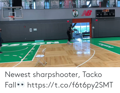 Fall: Newest sharpshooter, Tacko Fall👀 https://t.co/f6t6py2SMT