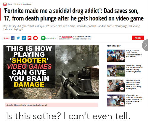 Newsuk News Video Games Fortnite Made Me A Suicidal Drug Addict