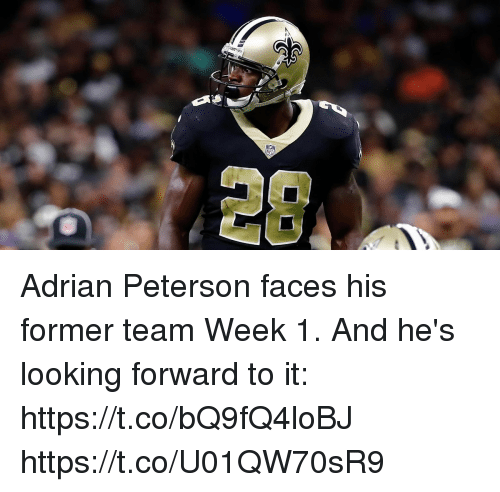 Adrianisms: NFL  28 Adrian Peterson faces his former team Week 1.  And he's looking forward to it: https://t.co/bQ9fQ4loBJ https://t.co/U01QW70sR9
