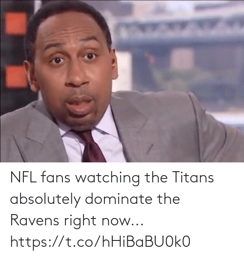 right now: NFL fans watching the Titans absolutely dominate the Ravens right now... https://t.co/hHiBaBU0k0