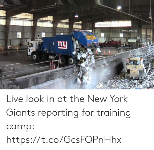 Football, Memes, and New York: @NFL_MEMES  L  CAUTION  ny  THAI Live look in at the New York Giants reporting for training camp: https://t.co/GcsFOPnHhx