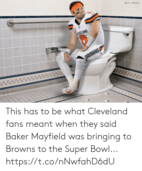 Bringing: @NFL_MEMES  LEVELAND  BRDWNS This has to be what Cleveland fans meant when they said Baker Mayfield was bringing to Browns to the Super Bowl... https://t.co/nNwfahD6dU