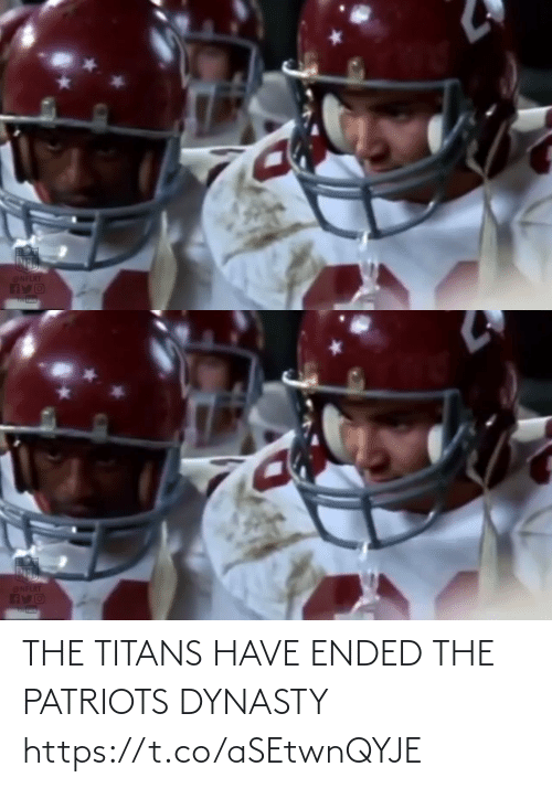 Ended: @NFLRT  AYO  Tou tuue   @NFLRT THE TITANS HAVE ENDED THE PATRIOTS DYNASTY https://t.co/aSEtwnQYJE