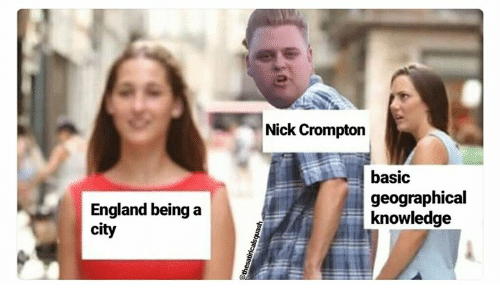 Basicness: Nick Crompton  basic  geographical  knowledge  England being a