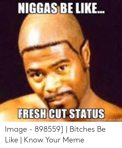 Bitches Be Like Meme: NIGGAS BE LIKE.  FRESH CUT STATUS  memeienerator.nct Image - 898559] | Bitches Be Like | Know Your Meme