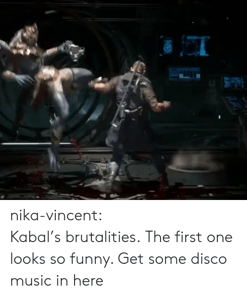 Funny, Music, and Tumblr: nika-vincent:  Kabal's brutalities.  The first one looks so funny. Get some disco music in here