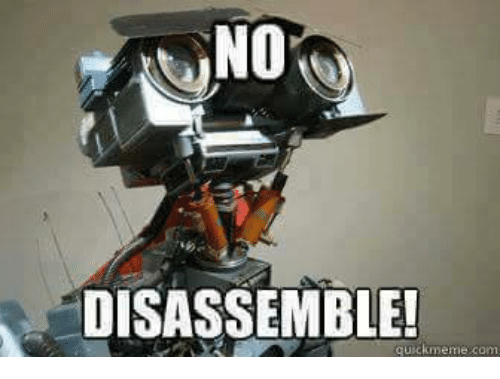 Memes, 🤖, and memes.com: NO  DISASSEMBLE!  quick meme com