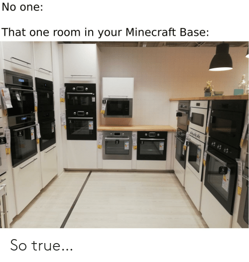 Minecraft, True, and One: No one:  That one room in your Minecraft Base: So true…