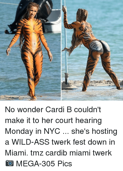 Ass, Memes, and Twerk: No wonder Cardi B couldn't make it to her court hearing Monday in NYC ... she's hosting a WILD-ASS twerk fest down in Miami. tmz cardib miami twerk 📷 MEGA-305 Pics