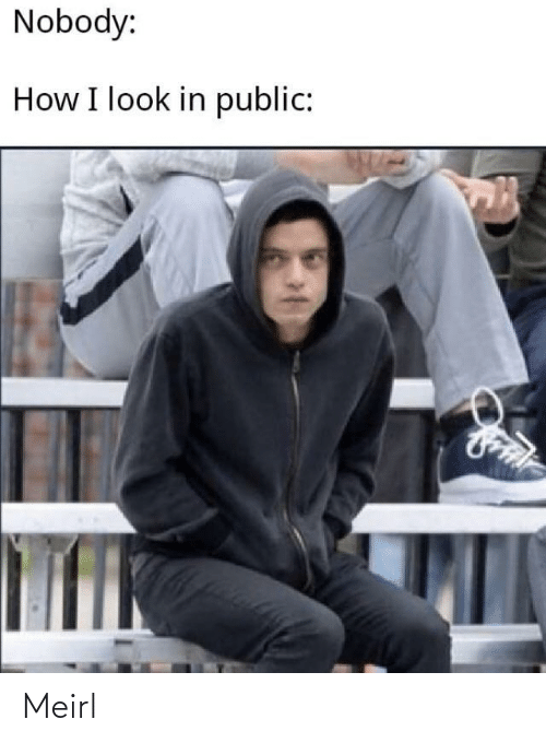 MeIRL, How, and Public: Nobody:  How I look in public: Meirl