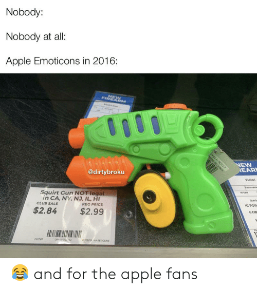 Nobody Nobody at All Apple Emoticons in 2016 NEW FIREARM NEW REAR