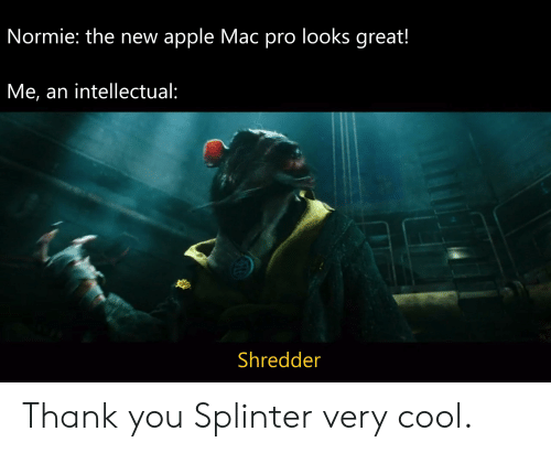 Normie the New Apple Mac Pro Looks Great! Me an Intellectual