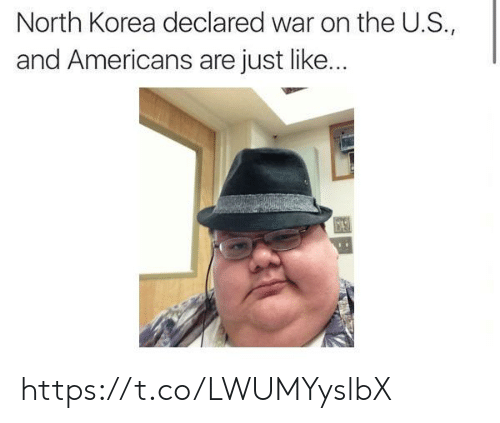 North Korea, Korea, and War: North Korea declared war on the U.S.,  and Americans are just like... https://t.co/LWUMYyslbX