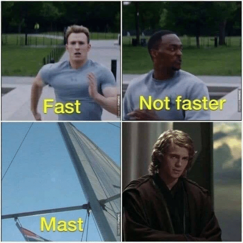 Star Wars, Fast, and Faster: Not faster  Fast  Mast