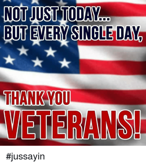 Dank, Thank You, and Today: NOT JUST TODAY.  BUT EVERY SINGLE DAY  THANK YOU  VETERANS! #jussayin
