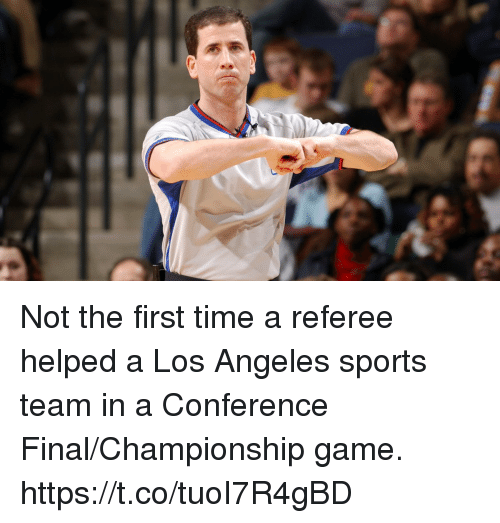 Football, Nfl, and Sports: Not the first time a referee helped a Los Angeles sports team in a Conference Final/Championship game. https://t.co/tuoI7R4gBD
