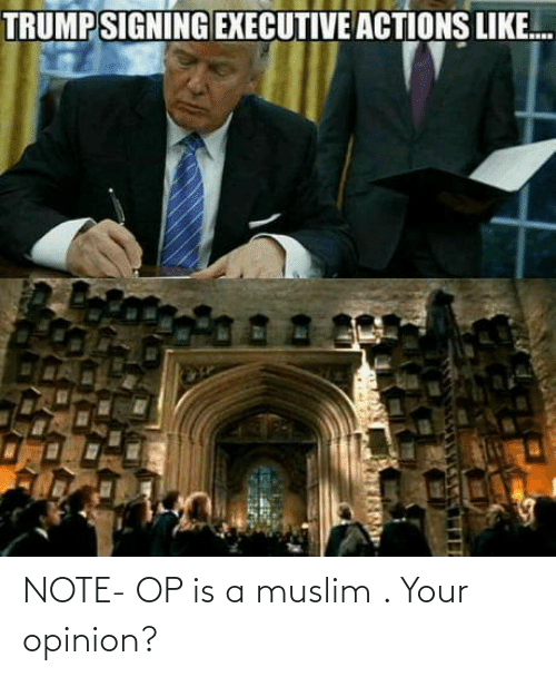 Muslim, Note, and Opinion: NOTE- OP is a muslim . Your opinion?