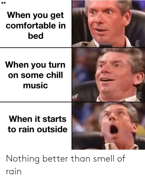 Smell: Nothing better than smell of rain