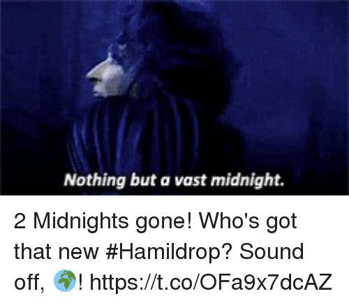 Memes, 🤖, and Got: Nothing but a vast midnight. 2 Midnights gone! Who's got that new #Hamildrop? Sound off, 🌍! https://t.co/OFa9x7dcAZ
