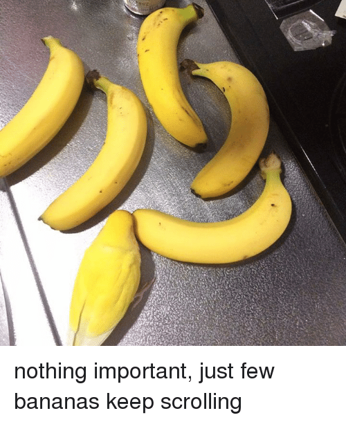 Bananas, Nothing, and Just: nothing important, just few bananas keep scrolling