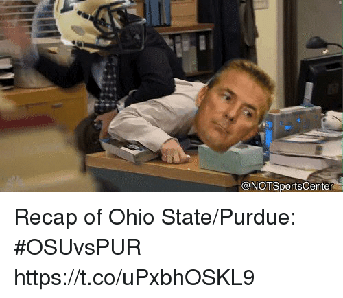Sports, Ohio, and Ohio State: @NOTSportsCenter Recap of Ohio State/Purdue: #OSUvsPUR https://t.co/uPxbhOSKL9