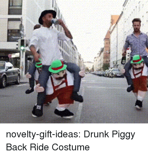 Drunk, Tumblr, and Blog: novelty-gift-ideas:  Drunk Piggy Back Ride Costume