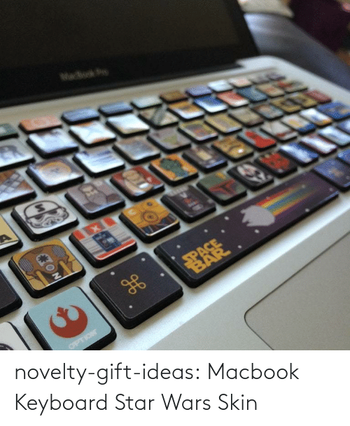 Keyboard: novelty-gift-ideas:  Macbook Keyboard Star Wars Skin