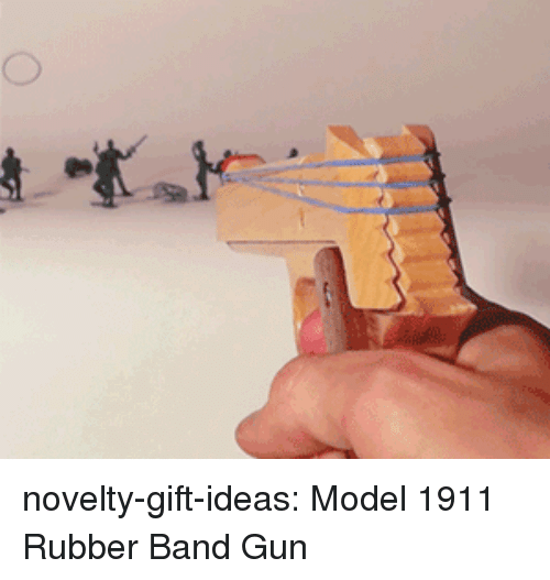 Tumblr, Blog, and Band: novelty-gift-ideas:  Model 1911 Rubber Band Gun