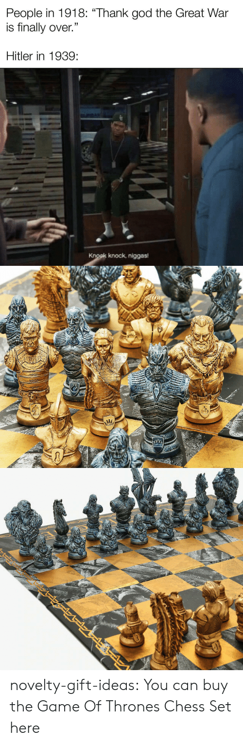 Game of Thrones: novelty-gift-ideas:  You can buy the   Game Of Thrones Chess Set here