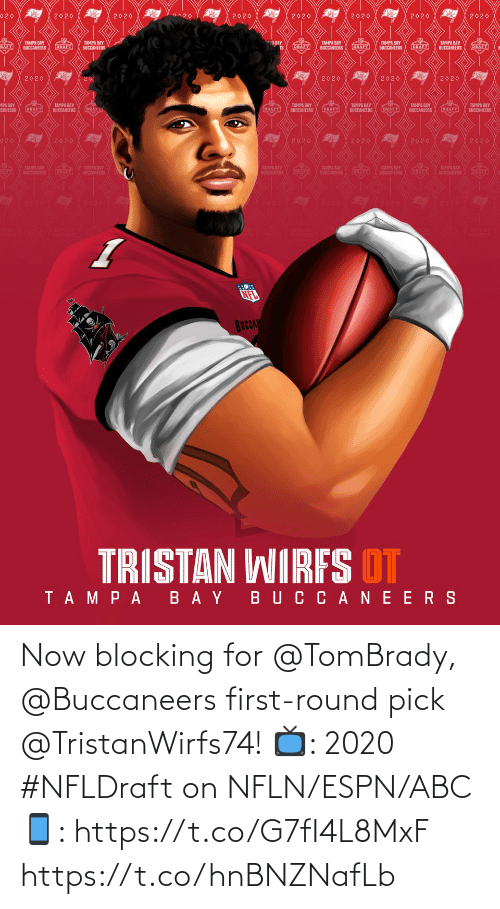 Round: Now blocking for @TomBrady, @Buccaneers first-round pick @TristanWirfs74!  📺: 2020 #NFLDraft on NFLN/ESPN/ABC 📱: https://t.co/G7fI4L8MxF https://t.co/hnBNZNafLb